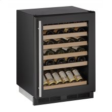 """1000 Series 24"""" Wine Captain® Model With Black Frame Finish and Field Reversible Door Swing (115 Volts / 60 Hz)"""