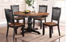 """66"""" Pedestal Table w/ 18"""" Leaf w/ 4 Chairs Product Image"""