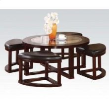 5pc Pk Coffee Table/4 Ottomans