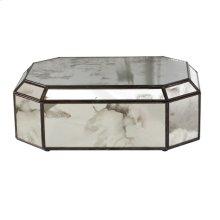Octagonal Antique Mirror Box