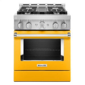 KitchenAidKitchenAid® 30'' Smart Commercial-Style Gas Range with 4 Burners Yellow Pepper