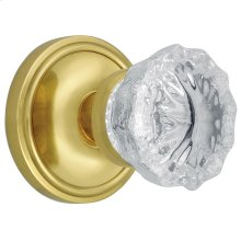 Nostalgic - Single Dummy - Classic Rosette with Crystal Knob in Polished Brass