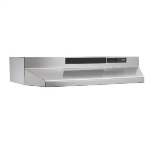 BroanBroan® 30-Inch Convertible Under-Cabinet Range Hood w/ Easy Install System, 220 CFM, Stainless Steel