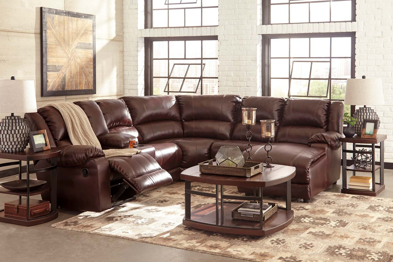 MacGrath DuraBlend® - Mahogany 5 Piece Sectional : durablend sectional - Sectionals, Sofas & Couches