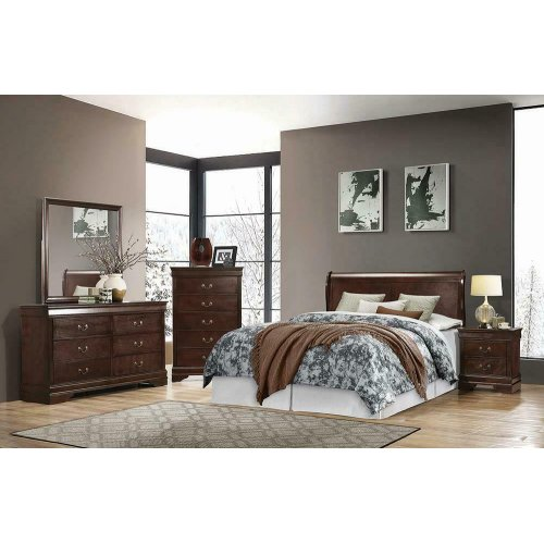 Louis Philippe Cappuccino Full Sleigh Bed