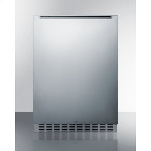 SummitOutdoor All-refrigerator for Built-in or Freestanding Use, With Stainless Steel Exterior, White Interior, Front Lock, and Digital Controls