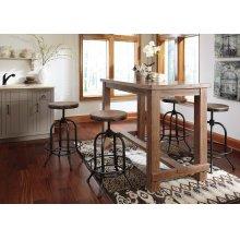 Pinnadel - Grayish Brown 5 Piece Dining Room Set