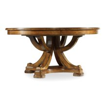 Dining Room Tynecastle Round Pedestal Dining Table with One 18'' Leaf