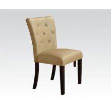 Walnut Side Chair W/cream Pu@n