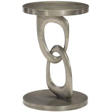 Linea Metal Round Chairside Table