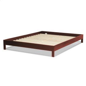 CLEARANCE ITEM--Murray Complete Wood Platform Bed with Bedding Support System and Box Design, Mahogany Finish, Queen