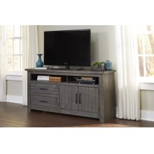 64 Inch Console - Distressed Dark Gray Finish