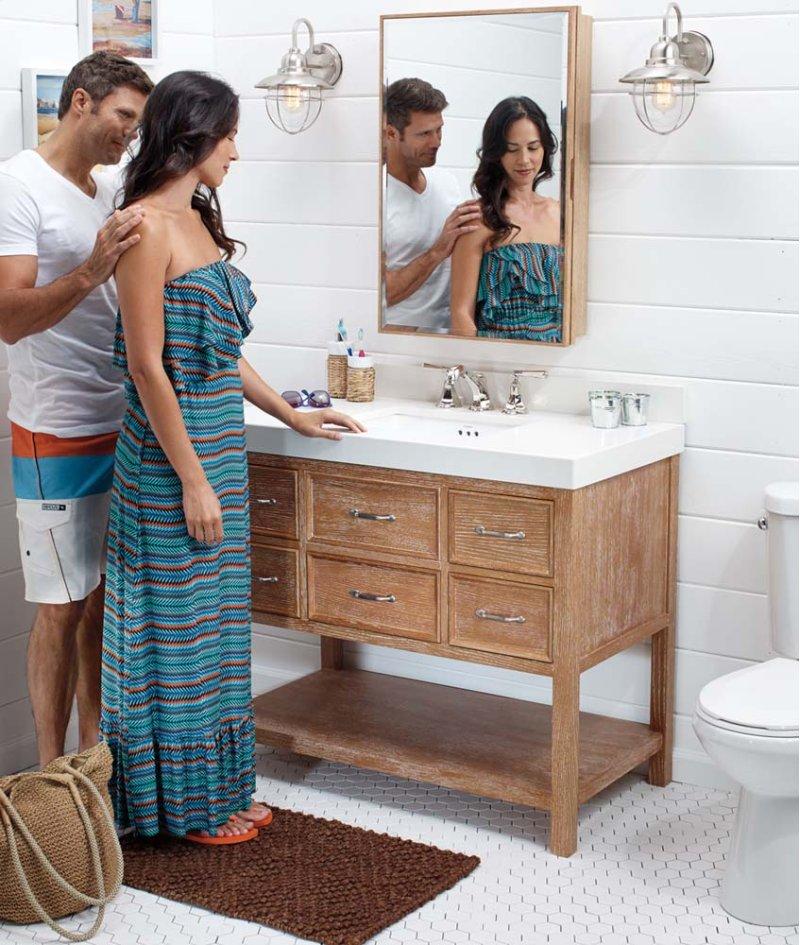 R In Vintage Honey By Ronbow In Anaheim CA Newcastle - Bathroom vanities in anaheim ca