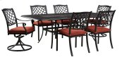 Apple Town - Burnt Orange 5 Piece Patio Set