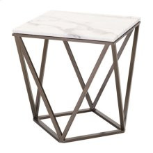 Tintern End Table Stone & Stone & Antique Brass
