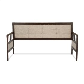 Gotham Metal Daybed with Latte Finished Button-Tufted Upholstery and Brass Studs, Brushed Copper, Twin