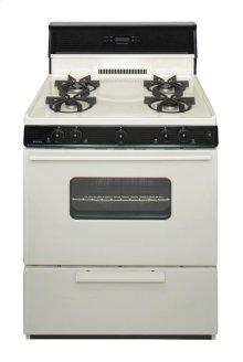 30 in. Freestanding Sealed Burner Spark Ignition Gas Range in Biscuit