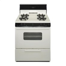 30 in. Freestanding Sealed Burner Spark Ignition Gas Range in Biscuit
