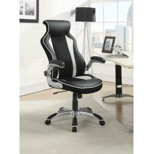 CoasterContemporary Black and White Office Chair