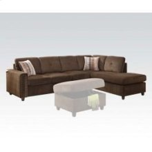 Belville Chocolate Sec. Sofa
