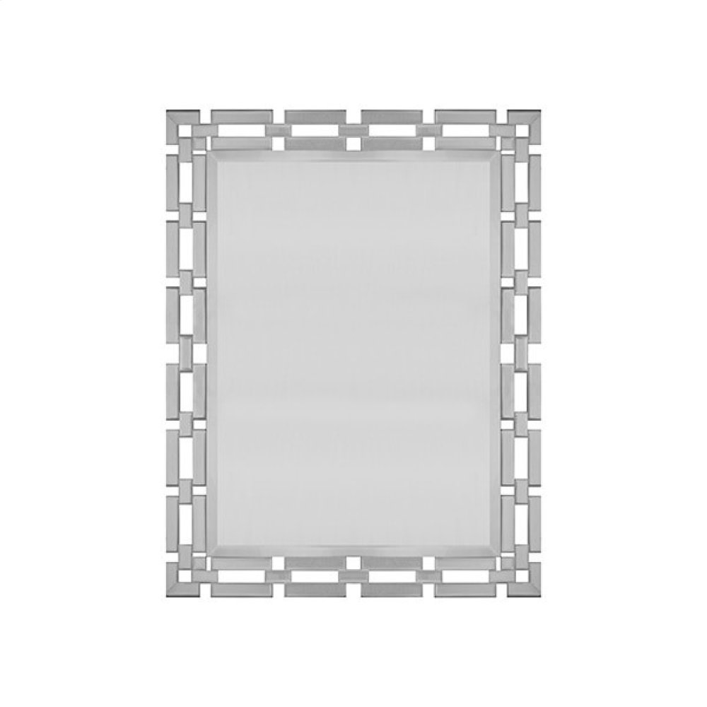Rectangular Mirror With Mirrored Chain Link Frame