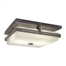 InVent Series Single-Speed 110 CFM, 1.5 Sones Decorative Bathroom Exhaust Fan with Light in Polished Steel Finish