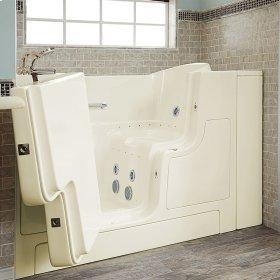 Gelcoat Premium Series 30x52 Walk-in Bathtub with Combination Massage and Outward Facing Door, Left Drain  American Standard - Linen