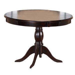 """Hillsdale FurnitureBayberry 44"""" Round Pedestal Dining Table - Ctn A - Top Only - Dark Cherry"""