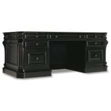 Home Office Telluride 76'' Executive Desk w/Leather Panels