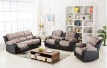 Camilla Two-Tone Champion Gray & Black Sofa