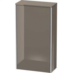 Semi-tall Cabinet, Flannel Gray High Gloss Lacquer