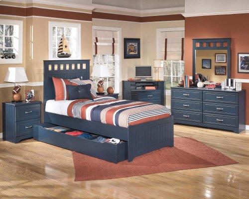 Leo - Blue 2 Piece Bedroom Set