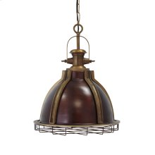 Metal Pendant Light (1/CN) Pendant Light - Antique Brass Finish Collection Ashley at Aztec Distribution Center Houston Texas
