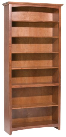 "GAC 84""H x 36""W McKenzie Alder Bookcase in Antique Cherry Finish"