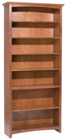 """GAC 84""""H x 36""""W McKenzie Alder Bookcase in Antique Cherry Finish"""