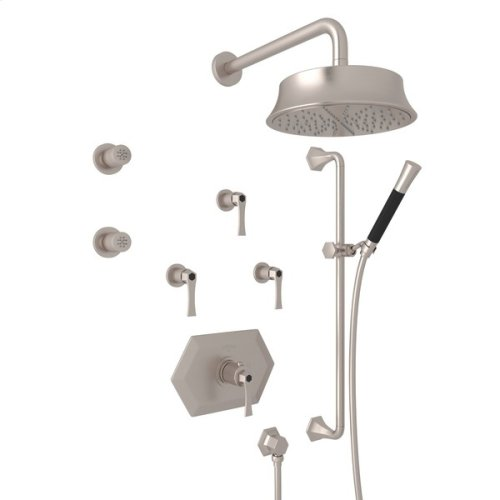 Satin Nickel Bellia Bekit370l Thermostatic Shower Package