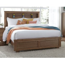 4/6-5/0 Full/Queen Bookcase Headboard - Dune Finish