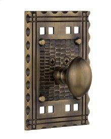 Nostalgic - Single Cylinder Deadbolt Keyed Differently - Craftsman in Antique Brass