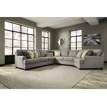 Cresson - Pewter Armless Loveseat, Armless Chair, Left Loveseat, Right Cuddler, Wedge