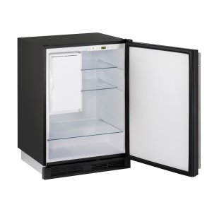 "U-LINE1000 Series 24"" Refrigerator/freezer With Black Solid Finish and Field Reversible Door Swing (115 Volts / 60 Hz)"