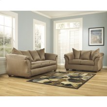 Signature Design by Ashley Darcy Living Room Set in Mocha Microfiber