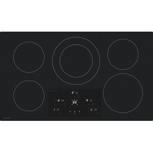 "SHARP36"" Width Induction Cooktop, European Black Mirror Finish Made With Premium Schott (R)Glass"