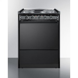 "Summit24"" Wide Slide-in Electric Range In Black With Lower Storage Compartment; Replaces Tem619r/tem610rt"
