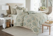 10pc King Comforter Set Spa