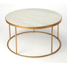 Set this lovely coffee table at the center of your living room ensemble for the perfect place to rest drinks and snacks. Use it to add a touch of contemporary flair to a traditional space or just complete a modern aesthetic. Showcasing a gold finsiehd iro