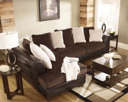 Victory - Chocolate 2 Piece Sectional