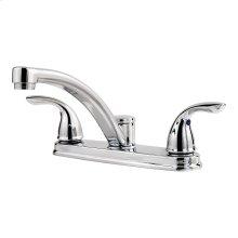 Polished Chrome 2-Handle Kitchen Faucet