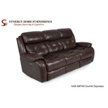 1429 Coventry Console Loveseat- Chocolate w/ PHR