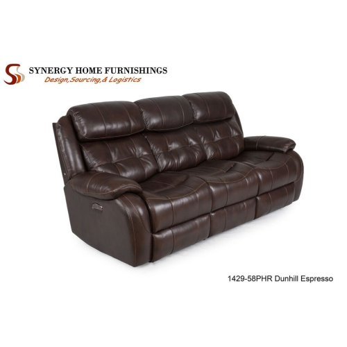 1429 Coventry Console Loveseat- Grey w/ PHR