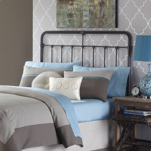 Fairfield Metal Headboard with Spindles and Castings, Dark Roast Finish, King